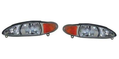Go-Parts - PAIR/SET - for 1997 - 2002 Ford Escort Front Headlights Assembly Front Housing / Lens / Cover - Left & Right (Driver & Passenger) Side - (4 Door; Sedan + 4 Door; Wagon) FO2503137