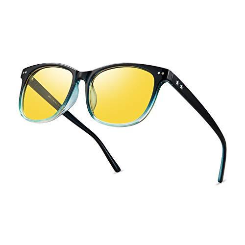 Night Vision Driving Glasses Polarized Anti-glare Clear Sun Glasses Men & Women Fashion(Blue)