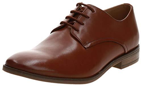 Clarks Stanford Walk, Zapatos de Cordones Derby Hombre, Marrón (Tan Leather Tan Leather), 43 EU