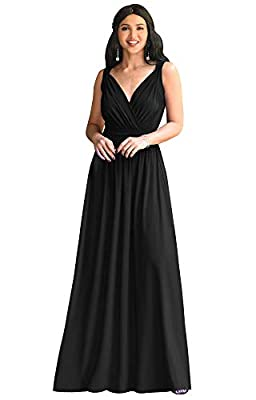 Black plus size maxi dresses and gowns for women; comfortable and elegant plus sized floor length bridesmaid dresses; ladies full length vintage dresses; curvaceous womans clothes for spring summer; special occasion maxi dresses Sleeveless Black maxi...