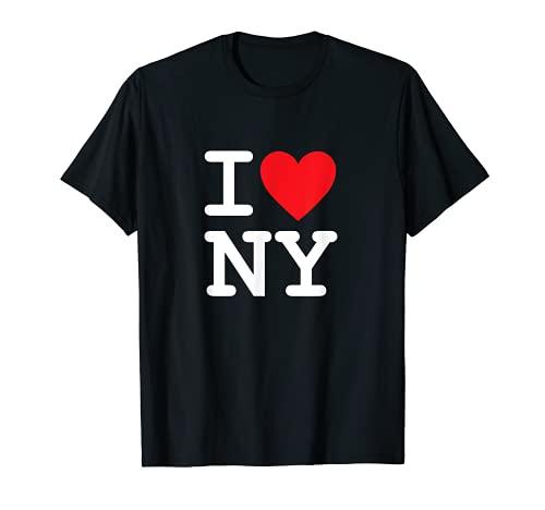 I Heart Love NY New York City NYC Classic Font T-Shirt