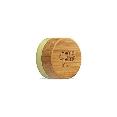 Hemp Help HEMP COSMETIC Bálsamo labial de cáñamo orgánico hidratante 100% natural 2.0 con cera de abejas y manteca de cacao, Vitamina E y aceite de menta, extracto de cáñamo, aceite de oliva
