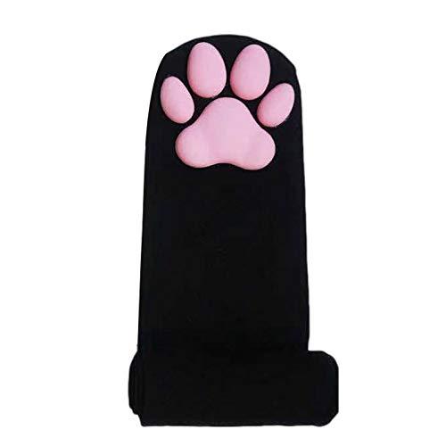Cowslip Calzini alti per coscia e coscia con zampe di gatto Lolita, calzini caldi sopra al ginocchio, calze invernali per donne