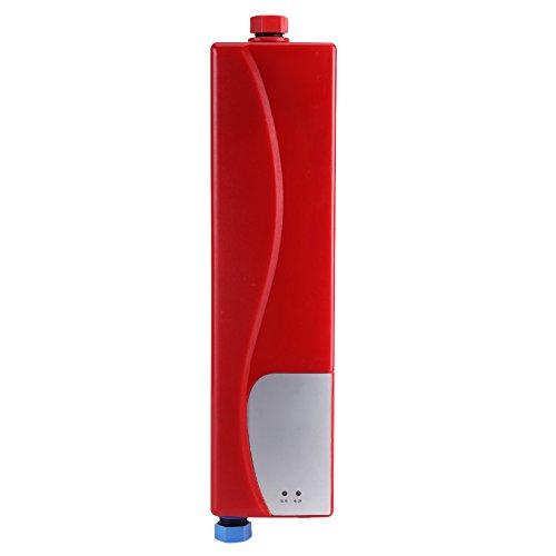 Mini chauffe-eau électrique instantané 3 000 W électrique Tankless Chauffage d'eau portable chaud instantané pour cuisine salle de bain, 220 V Mini chauffe-eau automatique