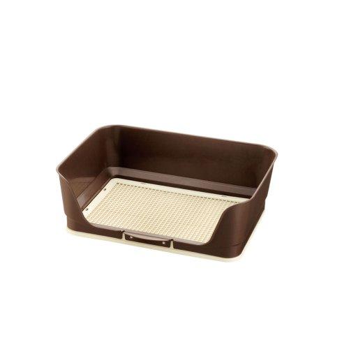 リッチェル しつけ用 ステップ壁付きトイレ レギュラー ダークブラウン