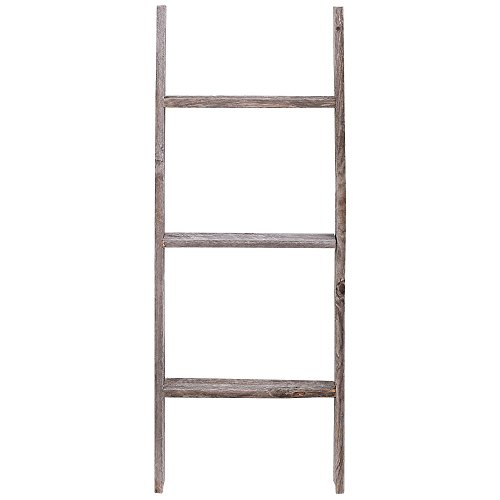3' Reclaimed Barnwood Rustic Ladder