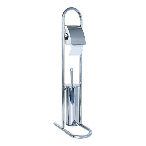 MSV Stand WC Garnitur WC Bürste aus Edelstahl 30x16,5x80cm