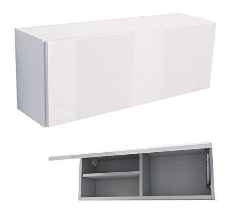 Armadio mobili da bagno armadietto da parete lucida bianco-bianco 80cm