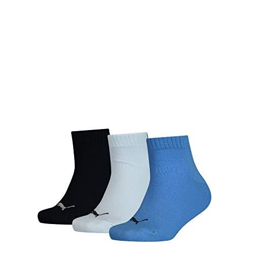 PUMA Kids' Quarter Socks (3 Pack) Calze, Marina, 39-42 (Pacco da 3) Unisex-Bambini