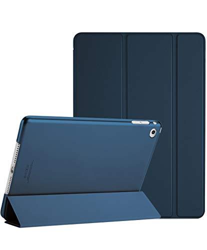 ProCase Custodia per iPad Air 2, Ultra Sottile e Leggero Custodia Supporto con Retro Semi-Trasparente Copertura Intelligente per iPad Air 2 (A1566 A1567) –Blu Marino