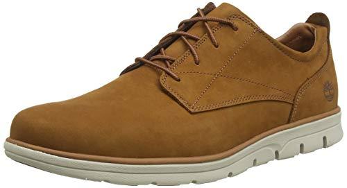 Timberland Bradstreet Plain Toe Sensorflex, Zapatos de Cordones Oxford para Hombre, Marrón Rust Nubuck, 41.5 EU