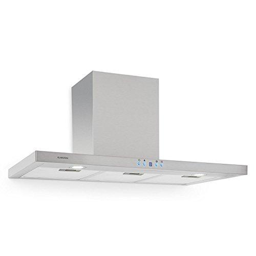 Klarstein RC90WS - Cappa aspirante, Aria di scarico/ricircolo, 3 gradini, Max, Acciaio inox, LED,...