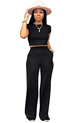 Material: Knitted Fabric. Flexible,Soft, Lightweight and Comfortable to Wear in everyday. Feature: Solid color, Short Sleeve 2 Piece Set, Crop Top, High Waist, Loose fit, Wide leg, Tie with pockets, Two Piece Tracksuit. Occasion: Suitable for Casual,...
