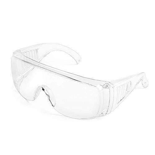Deyard Schutzbrille Spritzwassergeschützte Linse Antibeschlag, Überbrille mit weichem Nasenstück, Leichtes Gewicht und Angenehm zu Tragen (1 Stück)