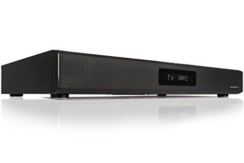 AudioAffairs TVS 2018 TV-Soundstand | HDMI Arc Heimkinoanlage | Soundbar mit FM PLL UKW Radio| Integrierter Subwoofer| Bluetooth 3.0 & Fernbedienung | Farbe: Schwarz