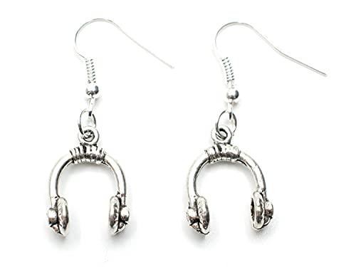 Miniblings cuffie orecchini gancio cuffie DJ band Speaker d'argento - gioielli di moda a mano in argento placcato I Orecchini
