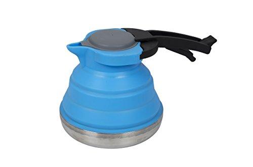 Bo-Camp - Bouilloire - Pliable - 1,2 litre - Silicone/Inox - Bleu