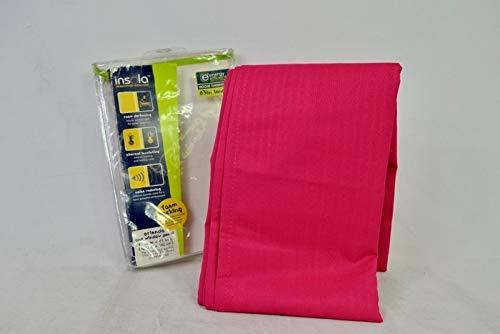 Insola Orlando 63″ L, 1 Room Darkening Window Curtain Panel – Pink