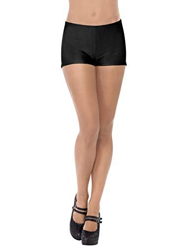 Smiffys Damen Hot Pants, One Size, Schwarz, 31067