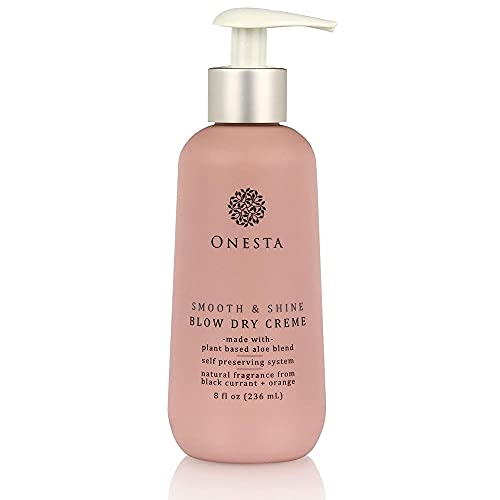 Onesta Hair Care Smooth and Shine Blow Dry Cream Control Frizz Volumizing Cream Made with Plant-Based Formula for All Hair Types - 8 Fl Oz