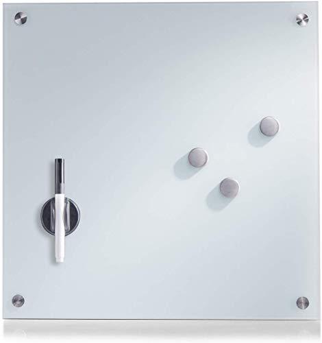 Zeller 11600 Memobord, Glas, weiß, ca. 40 x 40 x 2 cm