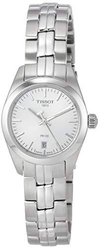 TISSOT Damen Analog Quarz Uhr mit Edelstahl Armband T1010101103100