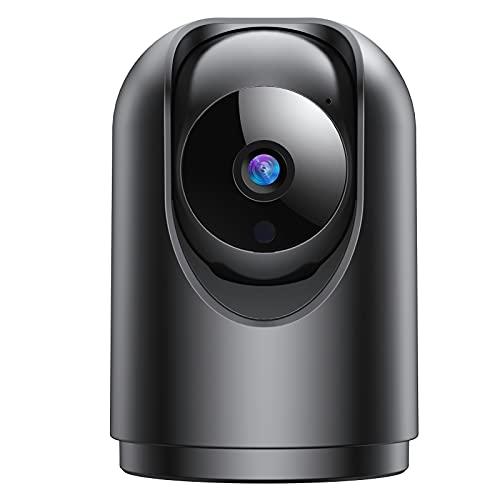 IHOUONE FHD 1296P Telecamera Wi-Fi Interno,Videocamera Sorveglianza Interno WiFi con Super Visione Notturna/Audio Bidirezionale/Motion Tracking/Allarme App/Rotazione a 355°