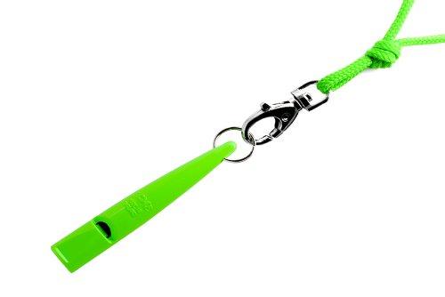 Acme Hundepfeife No. 211,5 + Gratis Pfeifenband   Original aus England   Ideal für die Hundeausbildung   Robustes Material   Genormte Frequenz   Laut und weitreichend (DG Green)