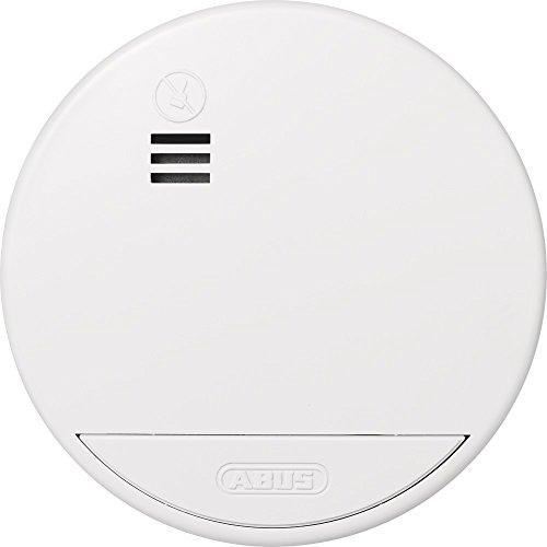ABUS Rauchmelder RWM50 Brandmelder mit austauschbarer Batterie | Stummschaltung | Schlafzimmer  | 2 Jahre | weiß | 04381