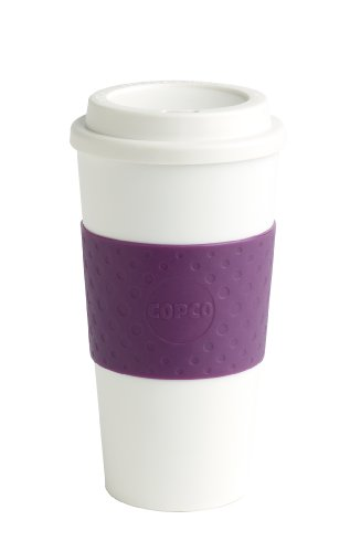 Copco Lock-N-Roll - Vaso, Ciruela, Copco Acadia Travel Mug, 16-Ounce, Plum, 1