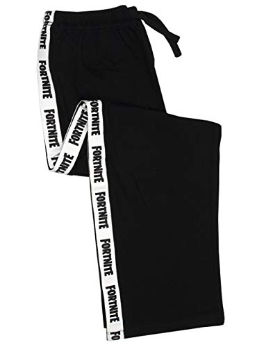Fortnite Logo Pierna Strip Black Kids Niños y Negro con cordón Pantalones de