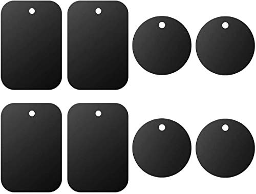 Universal Metal Plate 8 Pack for Magnetic Phone Car Mount Holder Cradle with Adhesive (Compatible...