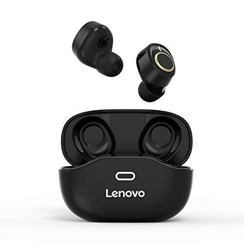 Andoer Fone de ouvido sem fio Lenovo X18 BT 5.0 TWS Fone de ouvido esportivo à prova d'água Fone de ouvido sem fio interno preto