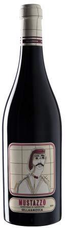 6 x 0.75 l - Mustazzo  un vino rosso sardo Cannonau di Sardegna Doc, prodotto dalla storica cantina di Alghero Sella & Mosca