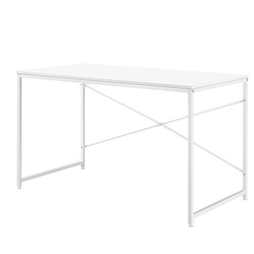 [en.casa] Scrivania 120 x 60 x 72 cm Tavolo Computer Ufficio PC Bianco