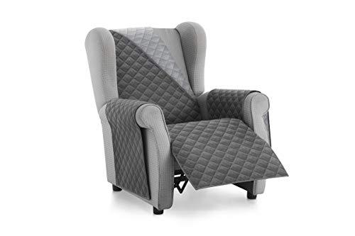 Textilhome - Salvadivano Copripoltrona Trapuntato Malu - Relax / 1 posti - REVESIBLE. Colore Grey