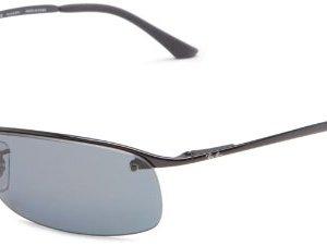 Ray-Ban Men's Rb3183 Metal Rectangular Sunglasses 7