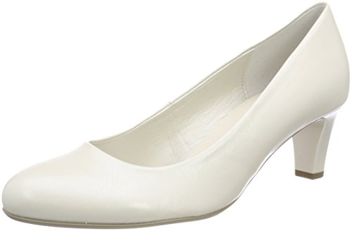 Gabor Shoes Damen Basic Pumps, Weiß (Off-White+Absatz), 38 EU