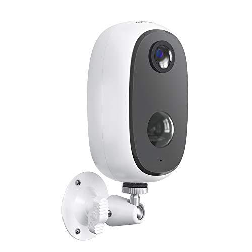 ieGeek Telecamera WiFi Interno / Esterno Batteria 10000mAh Senza Fili, FHD 1080P Telecamera di Sicurezza con Rilevamento del Movimento, Audio Bidirezionale, Visione Notturna, Compatibile con SD/Cloud