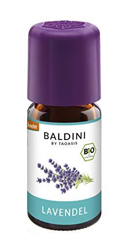 Baldini - Lavendelöl Bio, 100% Naturreines Ätherisches Bio Lavendel Öl Fein Aus Frankreich, Bio Aroma, 5 Ml