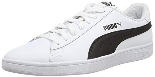 PUMA Smash V2 L, Zapatillas Unisex Adulto, Blanco White Black, 43 EU