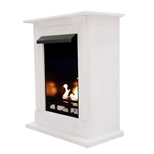 Venezia Premium Gel and Bioethanol Fireplace Choice of 9 Colours (White)