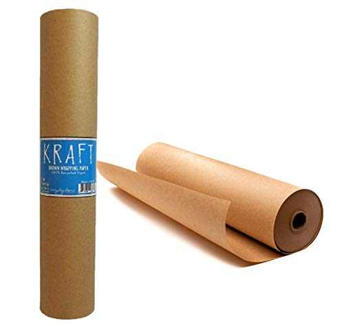 Kraft Brown Wrapping Paper Roll 18