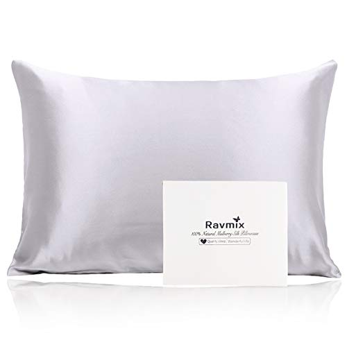 Ravmix 100% Mulberry Silk Pillowcase for Hair and Skin with...