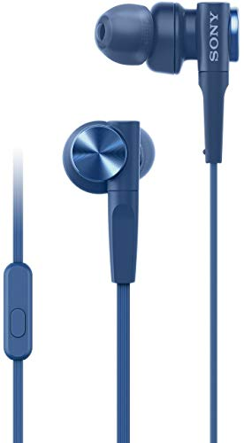 Sony MDR-XB55AP Wired in Ear Headphones with Mic (Blue)
