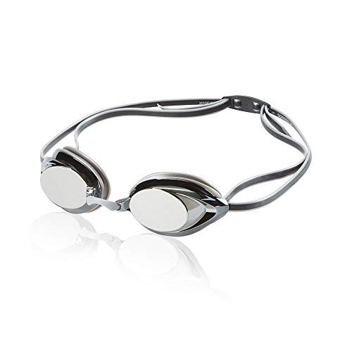 Speedo Vanquisher 2.0 Mirrored Swim Goggle, Silver/Grey, One Size