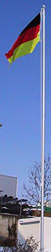 normani Fahnenmast ALU, Bodenhülse, Seilzug, Obere Abdeckung Größe 8.0 Meter