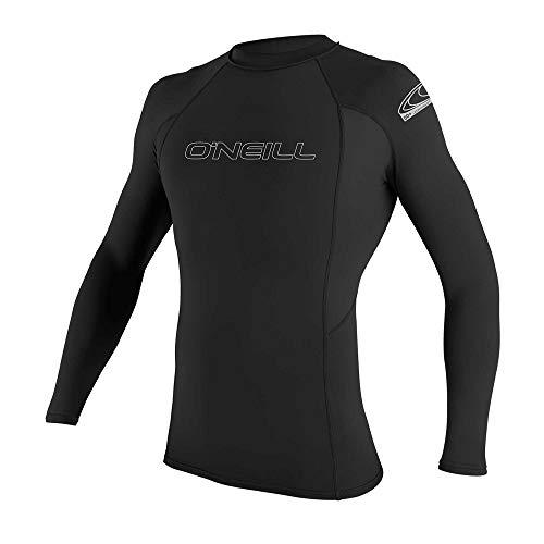 O'Neill Men's Basic Skins UPF 50+ Long Sleeve Rash Guard, Black, L