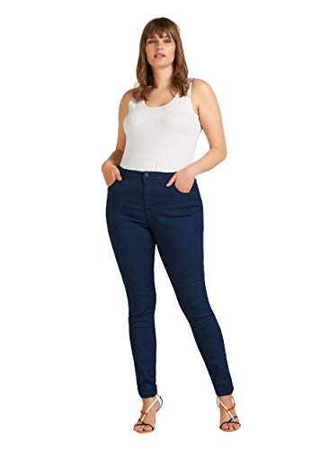 Zizzi Damen Amy Jeans Slim Fit Jeanshose Stretch Hose ,Blau,46 / 82 cm