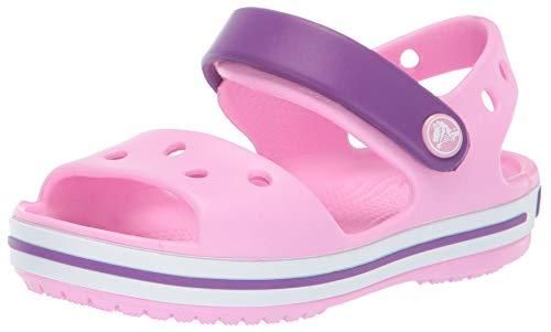 Crocs Crocband Sandal Kids, Sandalias Unisex Niños, Rosa (Carnation/Amethyst), 27/28 EU